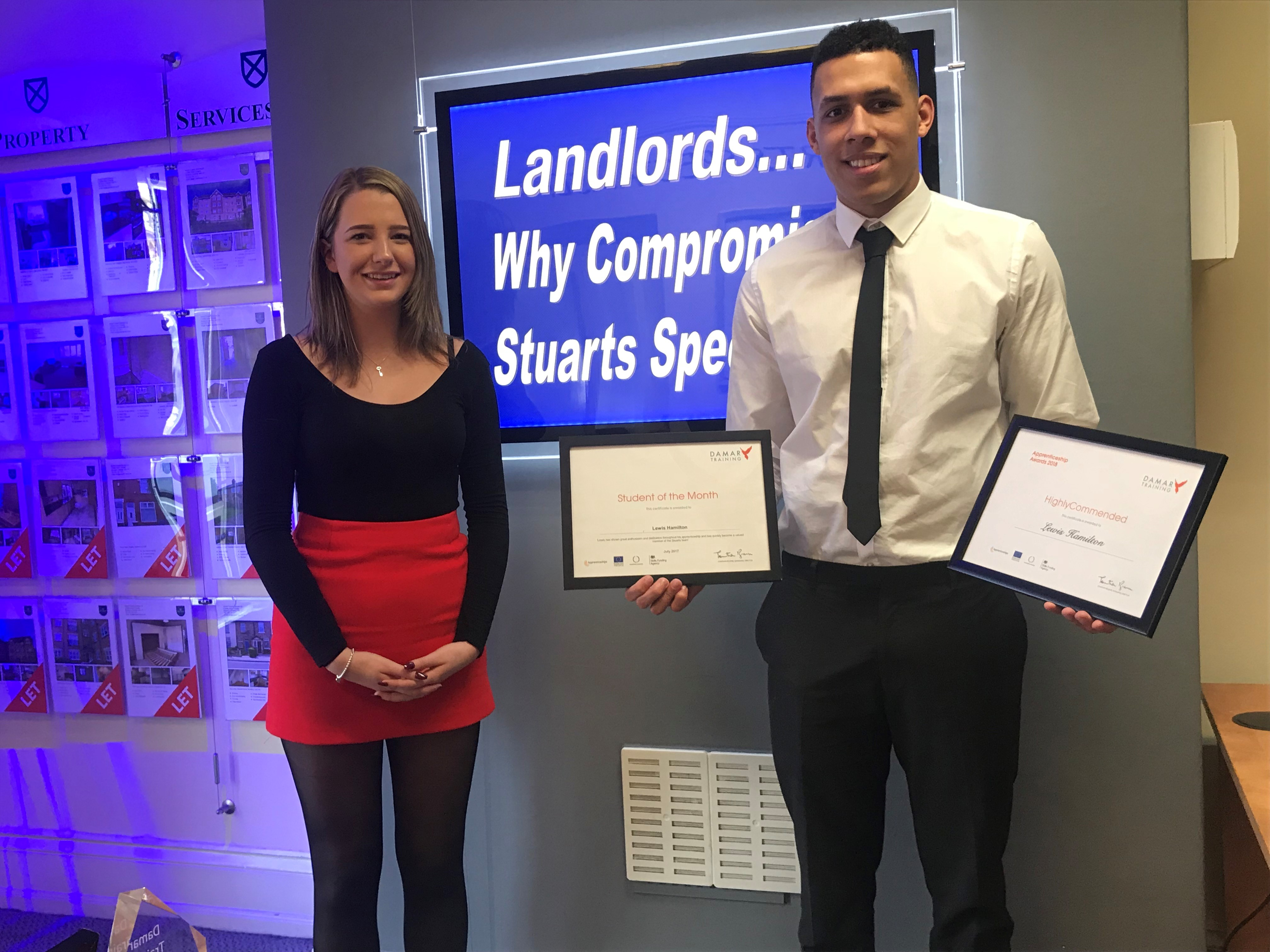Apprenticeship For Olivia Welcomed By Lewis Hamilton Stuarts